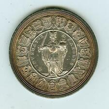 1719 German States Sede Vacante Silver Medal AU+ Proof-like Attractive Toning!