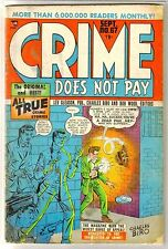 Crime Does Not Pay #67 All True Crime Stories! Vintage Golden Age Comic Book ~ G