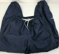 Nike Vintage 90s Lined Sweatpants Heavy Duty Cuffed Track Pants Large Navy Blue