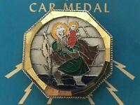 St Christopher Religious Car Medal Magnetic Vintage Catholic Patron Saint Travel