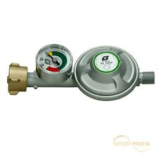 Druckminderer 50mbar mit Manometer Gas Druckregler Propan Butan Gasregler Grill