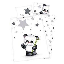 Herding Parure de lit enfant Jana Panda Ours Astérisque flanelle 100 x 135