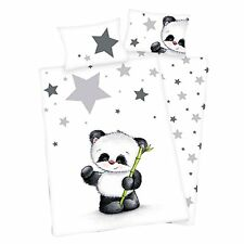 Herding bambini lenzuola Jana Panda Orso STELLINE FLANELLA 100 x 135 NUOVO