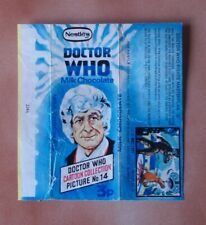 More details for vintage doctor who 1971 nestle's chocolate wrapper no 14 - 3rd dr pertwee - rare