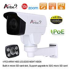 ANBER 1080P 2MP x10 Zoom PTZ NET IP ARRAY LED Bullet CCTV HD CAMERA ONVIF POE