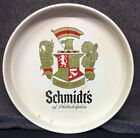 Vintage Schmidt's Beer of Philadelphia White Round Metal Beer Advertising Tray