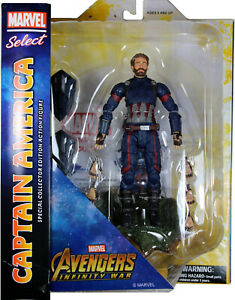 Marvel Select ~ CAPTAIN AMERICA ACTION FIGURE ~ Avengers: Infinity War ~ DST