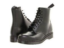 Para Hombres Zapatos Dr. Martens 1460 Mono 8 Ojo Botas De Cuero Negro 14353001 Suave