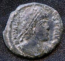 "Ancient Roman Coin "" Valens "" 364 - 378 A.D.  18mm Diameter"