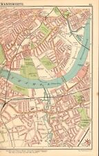 1913 ANTIQUE MAP-LONDON- WANDSWORTH, FULHAM, WALHAM GREEN