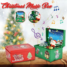 Christmas Home Decoration Colorful Luminous Music Box Electric Elderly Kids Gift