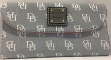 NWT*Dooney & Bourke* Madison Signature*Continental Clutch Wallet*Navy 17300E