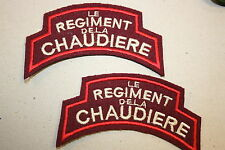 CANADIAN LE REGIMENT DE LA CHAUDIERE WW2 CANADA SHOULDER TITLES SUPERB