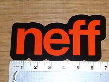 Neff Snowboarding Red/Black Sticker Decal