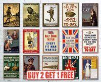 A3 Vintage High Quality British WW1 World War I Propaganda  Recruitment Posters