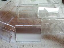 Price Tag Display Acrylic Business Card Holder Set 6 Pcs Durable Acrylic