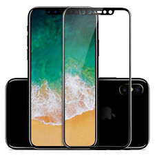 FOR IPHONE X 3D CURVED TEMPERED GLASS SCREEN GUARD BLACK