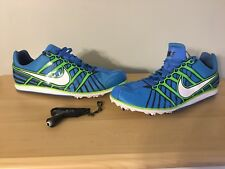New Nike Mens Zoom Rival D 6 Blue Track Running Shoes Sz 11 468649-413 Spikekey