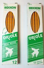 Vintage 2 Boxes Of Dixon Pencils Oriole 1 No. 287, 1 No.112875