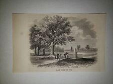 Battle of North Point Major General Robert Ross 1864 Hw Sketch Print Rare!