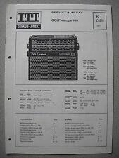 ITT/Schaub Lorenz Golf europa 108 Service Manual, K046