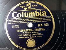 """78rpm 12"""" REGINALD JAQUES ORCH greensleeves fantasia / keltic lament DX 925"""