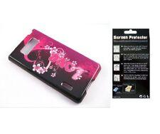 Screen Protector + LoveHeart Case for LG Splendor Venice US730 LG730 AS730 LS730