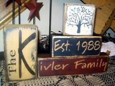 ~~PRIMITIVE CUSTOM FAMILY BLOCK SIGN~~THE~~FAMILY YEAR NAME~~