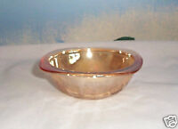 FLORAGOLD IRIDESCENT GLASS BERRY BOWL JEANNETTE VINTAGE