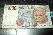 VECCHIA BANCONOTA REPUBBLICA ITALIANA 1000 MILLE LIRE  bnc