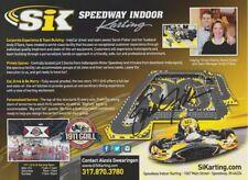 2016 Sarah Fisher signed SiKarting Indy Car postcard