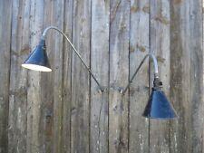 Paire de lampe d'atelier KI-E-KLAIR, modèle potence, vers 1950. Industriel loft