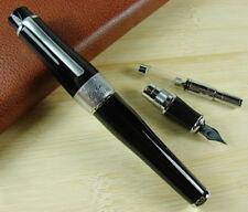 Duke 2009 Charlie Chaplin Memory Fountain Pen Black Big Size Style Writing Pen