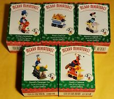 Hallmark: Merry Miniatures: Mickey Express - Complete Set of 5 Disney - 1998