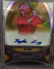2010 Bowman Sterling Autograph Gold Refractor Taylor Lindsey #19/50 Auto Padres