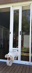 Sliding door dog door insert panel + Screen Adapter -L- $319 FREE DELIVERY*