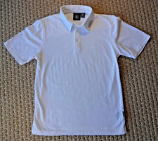 VOLCOM BOYS Wowzer Solid Jersey Knit Short Sleeve Polo Shirt M 10 12 Years White