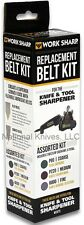Work Sharp Belt Replacement (6) for Knife Sharpener WSSA0002012, Assorted Grit