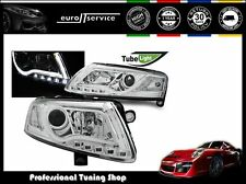 FARI ANTERIORI HEADLIGHTS LPAU95 AUDI A6 C6 2004 2005 2006 2007 2008 LED TUBE