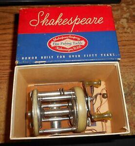 VINTAGE SHAKESPEARE PRESIDENT 1970 MODEL GE CASTING REEL/IN BOX/TOUGH!