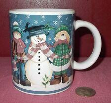 CHRISTMAS SNOWMAN MUG Cup Designpac CERAMIC Mindy Cain ^