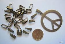 Colgador oval para colgante 11 mm X 20 UNIDADES punteado baño bronce abalorios