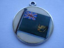 C1920S VINTAGE IRISH MERCANTILE MARINE BERGEE/FLAG SILVER&HAND ENAMELLED PENDANT