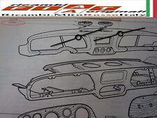 COPPIA MOLLE BOCCHETTONI PLANCIA FIAT 850 SPIDER COUPE PAIR SPRING NUT DASHBOARD