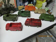 AUBURN RUBBER LOT OF 7- 1930s INTERNATIONAL CABOVER STAKE TRUCKS PLUS ARMY
