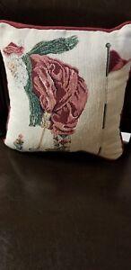 "Christmas Decorative ""Santa Playing Golf"" Tapestry Pillow"