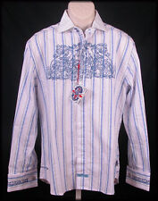 English Laundry Mens Embroidered Dress Shirt M Medium Parrs Wood Cherubs New NWT