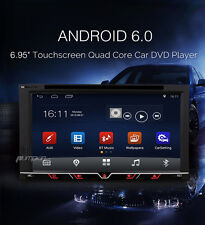 6.95'' Android 6.0 WIFI 2DIN Car Radio Stereo DVD Player GPS Navigation Unit BT
