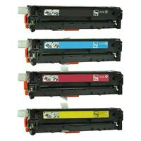 4PK Toner Cartridges CE320A CE321A CE322A CE323A For HP 128A LaserJet CM1415fnw