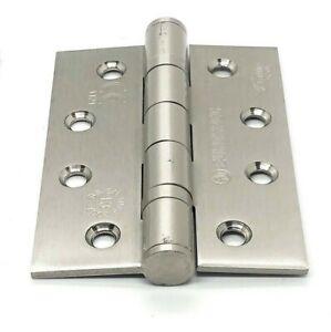 Satin Nickel Hinges Ball Bearing Fire Door 100mm Price Per Hinge inc Screws